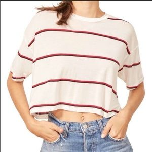 Tops - Reformation Striped Crop Tee